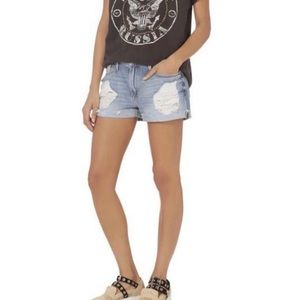 FRAME denim le grand garçon destroyed jean shorts